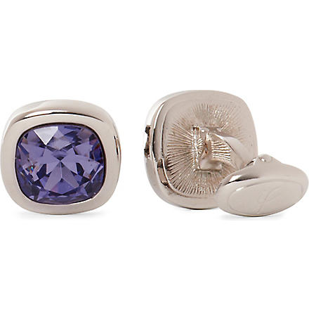 IAN FLAHERTY Crystal round cufflinks (Tanzinite