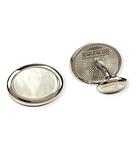 IAN FLAHERTY Oval cufflinks (Pearl