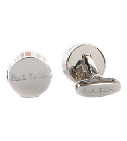 PAUL SMITH Multi-stripe cufflinks (Multi