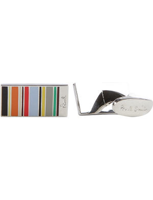 PAUL SMITH ACCESSORIES Mini striped cufflinks
