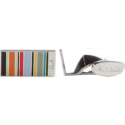 PAUL SMITH Mini striped cufflinks (Multi