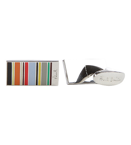 PAUL SMITH ACCESSORIES Mini striped cufflinks (Multi