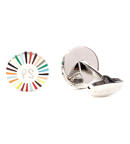 PAUL SMITH Ray logo cufflinks (Multi