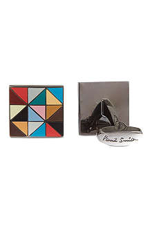 PAUL SMITH Geometric square cufflinks
