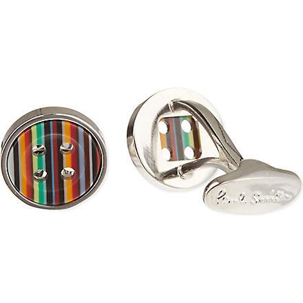 PAUL SMITH ACCESSORIES Multi stripe button cufflinks (Mutli