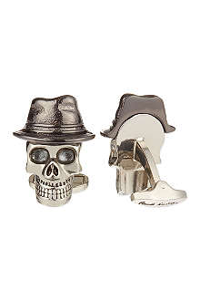 PAUL SMITH ACCESSORIES Dressed skull hat cufflinks