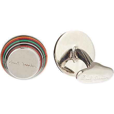 PAUL SMITH ACCESSORIES Layered thin striped cufflinks (Multi