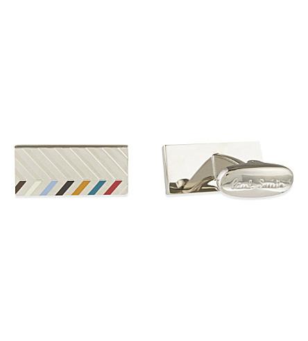 PAUL SMITH Chevron bar cufflink (Silver