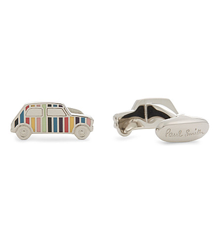 PAUL SMITH Stripe car cufflinks (Silver