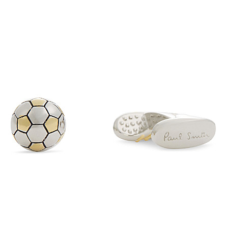 PAUL SMITH Football cufflinks (Silver