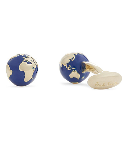 PAUL SMITH Globe cufflinks (Silver