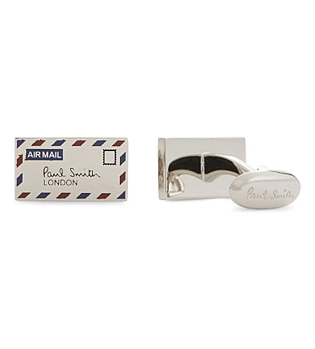 PAUL SMITH Letter cufflinks (Silver