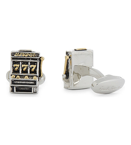 PAUL SMITH Jackpot machine cufflinks (Silver