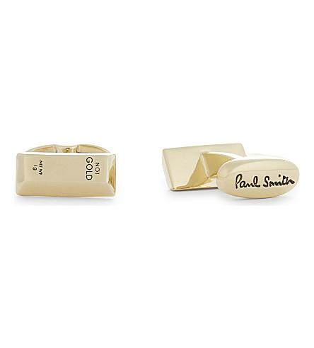 PAUL SMITH Gold bar cufflinks (Silver