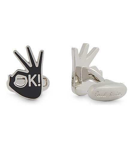 PAUL SMITH OK! hands cufflinks (Silver