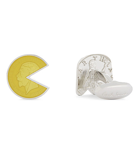 PAUL SMITH Pac-Man cufflinks (Silver