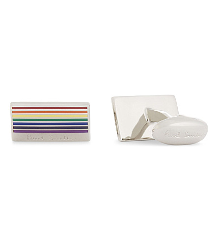 PAUL SMITH Rainbow cufflinks (Silver