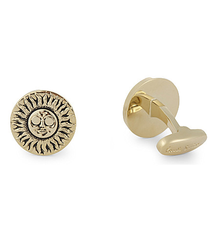PAUL SMITH Psychedelic sun cufflinks (Gold