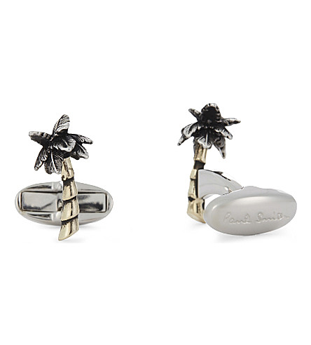 PAUL SMITH Palm tree cufflinks (Gold