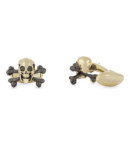 PAUL SMITH Skull and bones cufflinks (Gold
