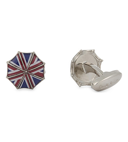PAUL SMITH Union Jack umbrella cufflinks (Multi