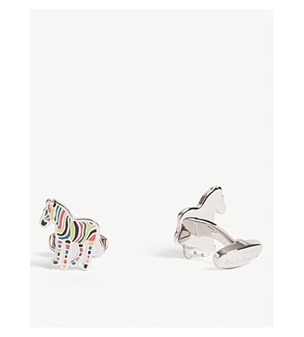 PAUL SMITH Zebra cufflinks (Multi