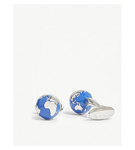 PAUL SMITH Globe cufflinks (Blue