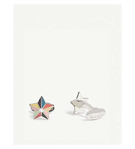 PAUL SMITH Multi-coloured star cufflinks (Multi