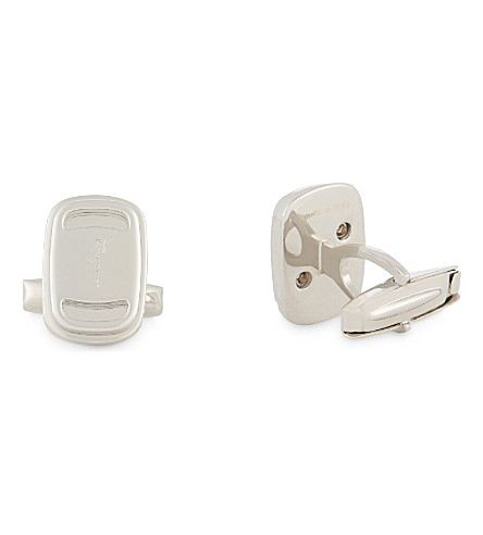 SALVATORE FERRAGAMO Vara cut-out detail cufflinks (Silver+2