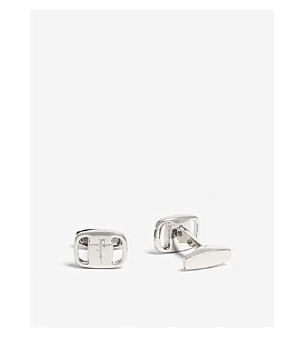 SALVATORE FERRAGAMO Rectangle cufflinks (Silver