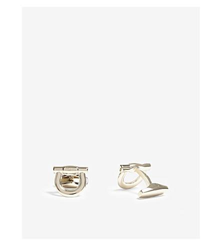 SALVATORE FERRAGAMO Large Gancio cufflinks (Gold
