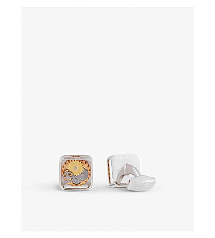 TATEOSSIAN Square Gear cufflinks (Multi