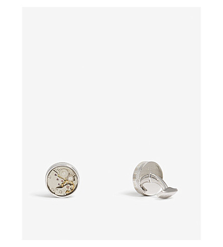 TATEOSSIAN Mechanical Skeleton Movement cufflinks (Silver