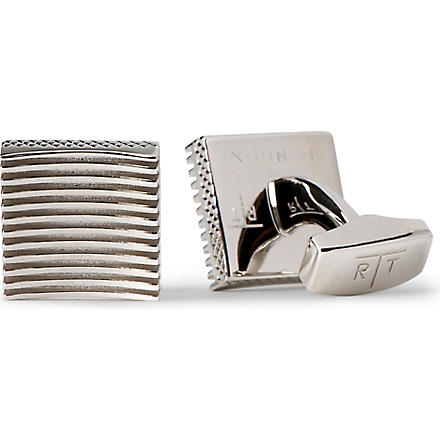 TATEOSSIAN Zen garden square cufflinks (Rhodium