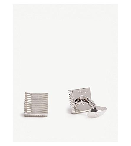 TATEOSSIAN Striped square cufflinks (Silver