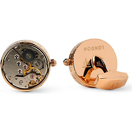 TATEOSSIAN Mechanical Skeleton Movement cufflinks (Rose