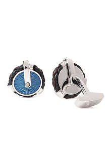 TATEOSSIAN Pulley leather cufflinks