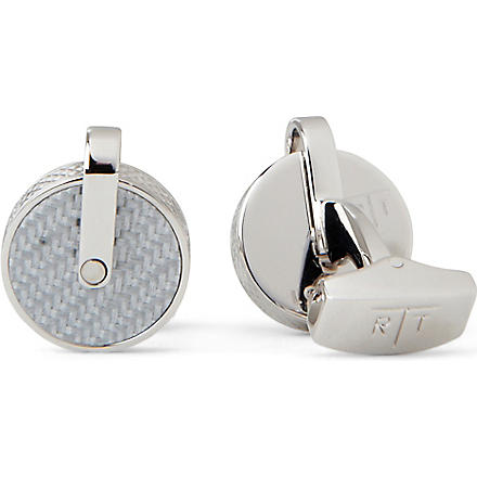 TATEOSSIAN Carbon Fibre cufflinks (Grey