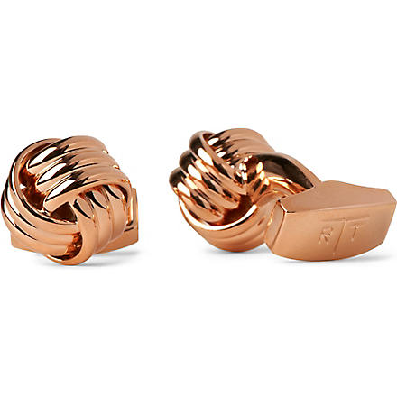 TATEOSSIAN Round knot cufflinks (Rose+gold