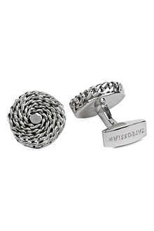 TATEOSSIAN Round weave cufflinks