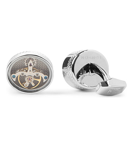 TATEOSSIAN Tourbillion mechanical cufflinks (Silver