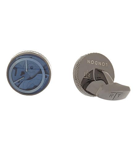 TATEOSSIAN Mechanical gears round cufflinks (Gunmetal