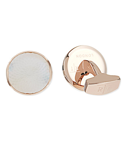 TATEOSSIAN Spiral cufflinks (Rose+gold