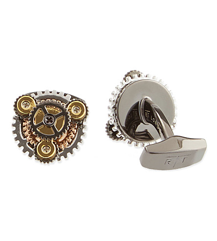 TATEOSSIAN Gear cuff links (Gunmetal