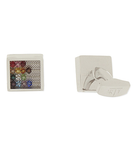 TATEOSSIAN Abacus Swarovski crystal cufflinks (Multi