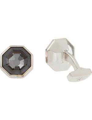 TATEOSSIAN Swarovski octagon cufflinks