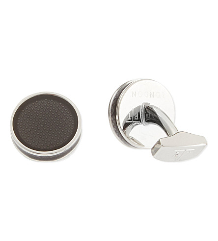 TATEOSSIAN Tablet enamel cufflinks (Black