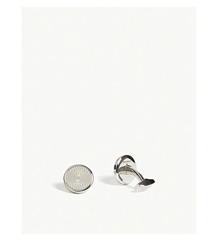 TATEOSSIAN Spirograph cufflinks (Silver/black