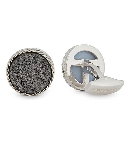 TATEOSSIAN Druse sterling silver cufflinks (Silver