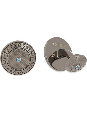 TATEOSSIAN XXV anniversary logo cufflinks